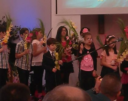 Palm Sunday with The Kids Choir at UEC, 4/9