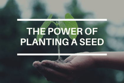 THE POWER OF PLANTING A SEED