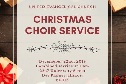 UE Church Choir Christmas Celebration