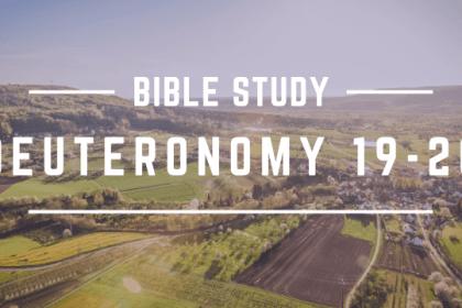 DEUTERONOMY 19-20