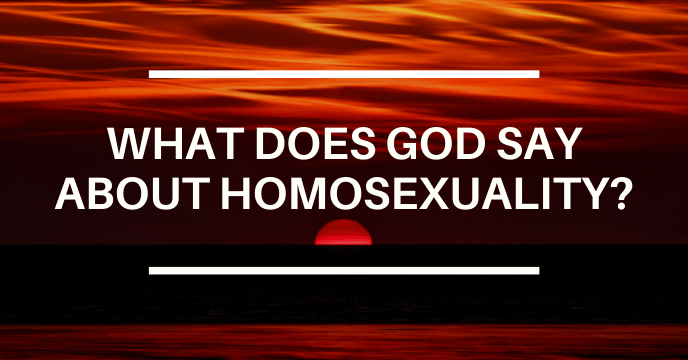 WHAT DOES GOD SAY ABOUT HOMOSEXUALITY?
